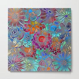 Flowery Summer Pattern Metal Print