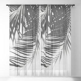 Palm Leaves Black & White Vibes #3 #tropical #decor #art #society6 Sheer Curtain