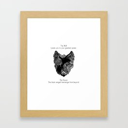 The Wolf and The Raven Framed Art Print