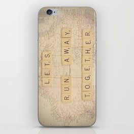 Lets Run Away Together iPhone Skin