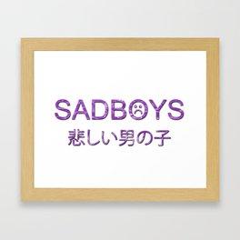 SADBOYS // YUNG LEAN // TRANSPARENT Framed Art Print