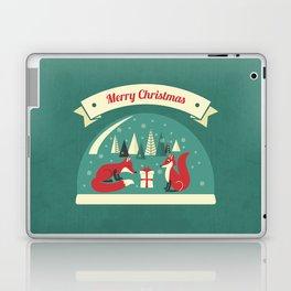Christmas Foxes Laptop & iPad Skin