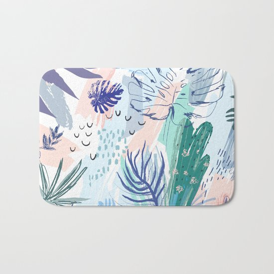 Pastel Palm Springs Bath Mat