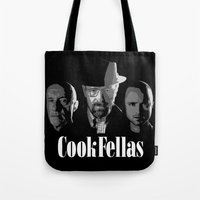 cook Tote Bags featuring Cook Fellas by Resistance