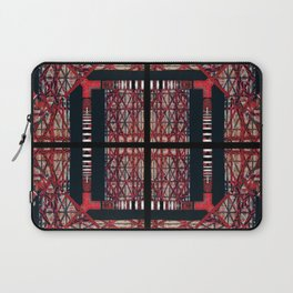 number 169 red black white pattern Laptop Sleeve