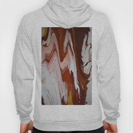 Red Burgundy Fluid Liquid Marble Flow Painting - Lava Flow II Hoody