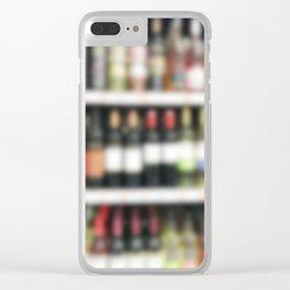 Wine Bottles In Wine Shop Clear iPhone Case