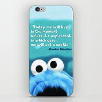 cookie monster iPhone & iPod Skins featuring Cookie Monster Motivational by Tiffany Taimoorazy