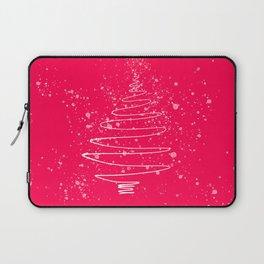 Pink Christmas tree Laptop Sleeve