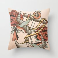 anchor Throw Pillows featuring Anchor by Chase Kunz