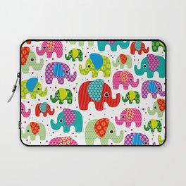 Colorful india elephant kids illustration pattern Laptop Sleeve