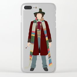 Fourth Doctor Clear iPhone Case