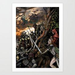 Goblin Attack! Art Print