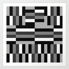 Black White and Gray Art Print