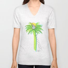 Palm Peace - Summertime Unisex V-Neck