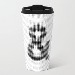 Halftone Ampersand Sans Serif Travel Mug