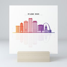 Saint Louis City Of Missouri Mini Art Print