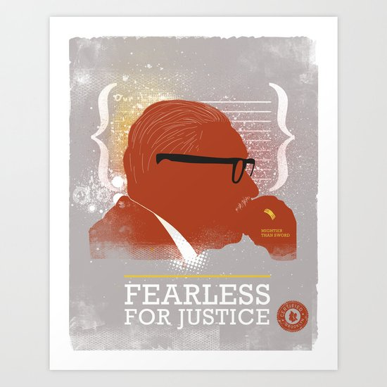 FEARLESS: For Justice Art Print