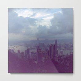 Hong Kong Victorias Peak Metal Print