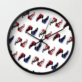 Air Jordan 1 Pattern Wall Clock