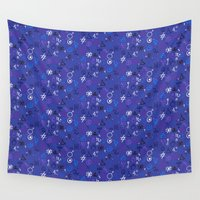 witchcraft Wall Tapestries featuring Witchcraft mystic signs by Daria Rosen