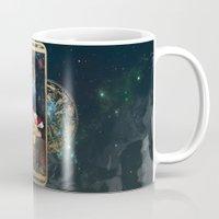 zodiac Mugs featuring Zodiac : Pisces by Andre Sanchez