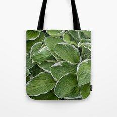 Hosta Leaves in the Rain Tote Bag