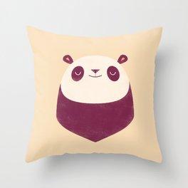 Minimal Panda Throw Pillow