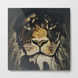 Noble Lion Metal Print