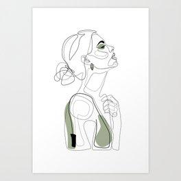 Olive Beauty Art Print