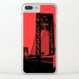 George Washington Bridge Clear iPhone Case