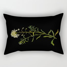 Iberis Amara Mary Delany Vintage Paper Flower Collage Floral Botanical Art Rectangular Pillow
