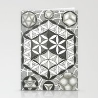 sacred geometry Stationery Cards featuring Sacred by Brandon Leung