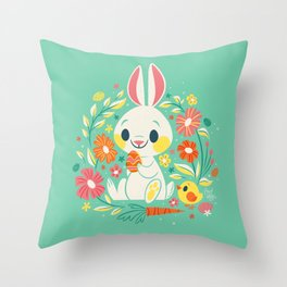 Sweetest Easter Bunny Throw Pillow