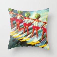 The artichoke skiers Throw Pillow