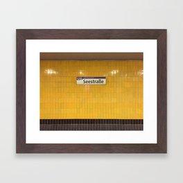 Berlin U-Bahn Memories - Seestraße Framed Art Print