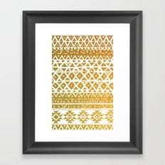 GOLDEN TRIBAL Framed Art Print