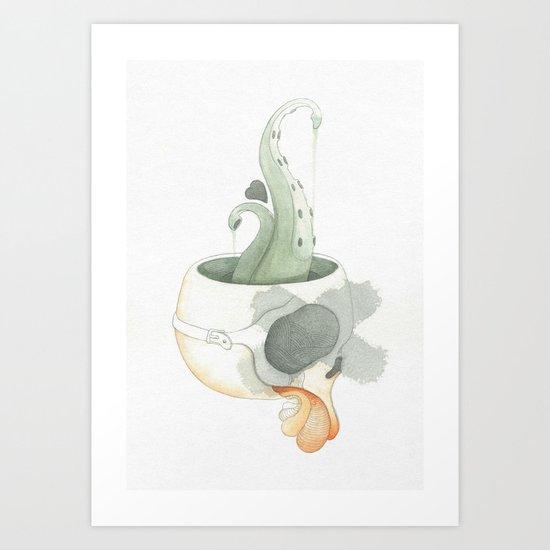 Squid Brain Art Print