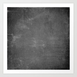 Gray and White School Chalk Board Art Print