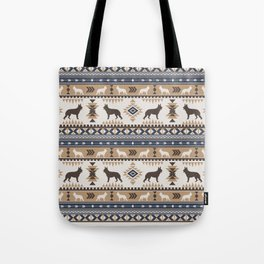 Boho dogs | German shepherd pattern tan Tote Bag