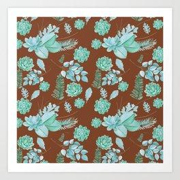 Succulent Pattern Art Print