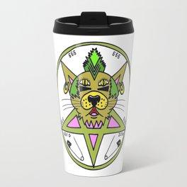 PUNK CAT WHITE Travel Mug