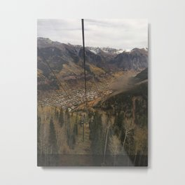 Dropping from the Mountain into Telluride Metal Print