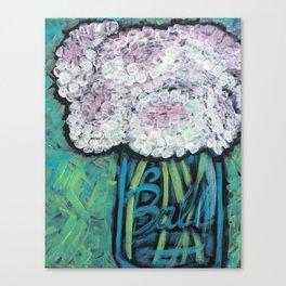 Pink & White Cotton Bloosoms Canvas Print