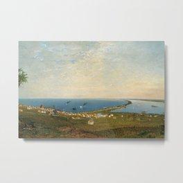 'Coastal Scene and Tidal Ponds' landscape by Gilbert Munger Metal Print