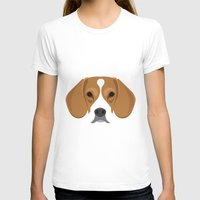beagle T-shirts featuring Beagle by Three Black Dots