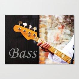 Bass Guitar neck , musical instrument  Canvas Print