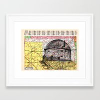 oklahoma Framed Art Prints featuring Oklahoma by Ursula Rodgers