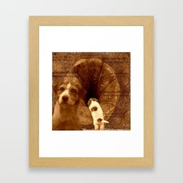 Remembering his masters voice Framed Art Print
