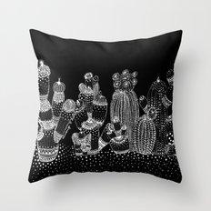 cactus family Throw Pillow